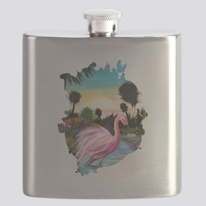Flamingos Paradise Flask